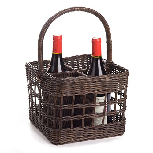 Basket Weaving Supply Stores : The basket lady wicker section bottle carrier