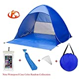 Kushina Automatic Pop Up Instant Portable Outdoors Quick Cabana Beach Tent Sun Shade Sport Shelter, Blue