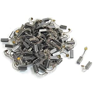 100 Pcs 14mm x 6mm x 6mm Electric Motor Carbon Brushes by Amico