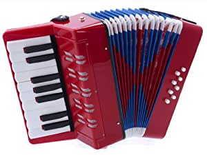 D'Luca G104-RD Kids Piano Accordion 17 Keys