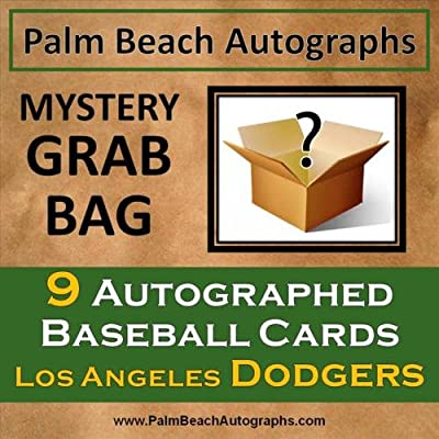 MYSTERY GRAB BAG - 9 Autographed Baseball Cards - Los Angeles Dodgers