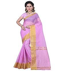 Sanju Fashionable Plum Color Cotton Silk Saree