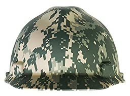 MSA 10103908 American Freedom Series V-Gard Protective Cap with Fast Trac III Suspension, Camouflage
