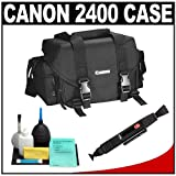 Canon 2400 Digital SLR Camera Case Gadget Bag + Accessory Kit for EOS Rebel XT, XTi, XS, XSi, T1i, T2i, T3, T3i, 60D, 50D, 7D, 5D & 1D
