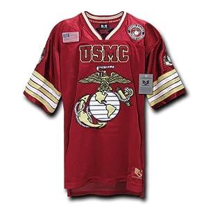 Rapiddominance USMC Football Jersey, Cardinal, Medium
