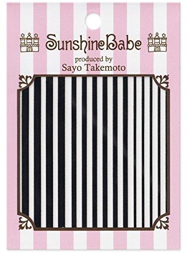SunshineBabe ネイルシール ストライプ 黒 mix
