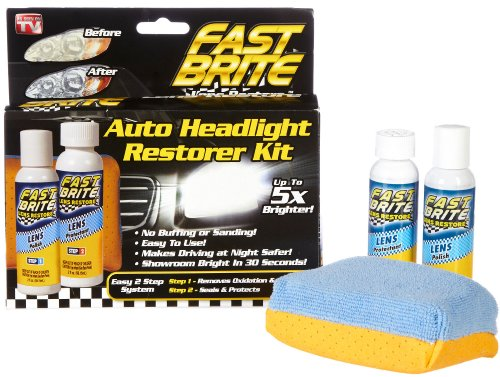 Fast Brite Headlight Lens Restorer Kit