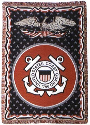Simply Home U.S. Coast Guard Triple-Layer Throw Blanket front-335614