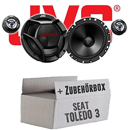Seat Toledo 3 5P Front o. Heck - JVC CS-DR1700C - 16cm 2-Wege Lautsprecher System - Einbauset