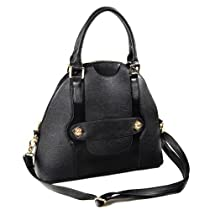 Dome Satchel Handbag (Black)