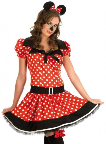 Plus Size Missy Mouse Fancy Dress Costume. Sizes 12 to 26