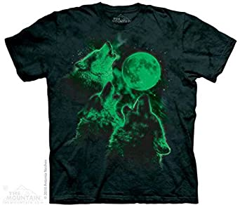 The Mountain Three Wolf Moon Glow in the Dark Adult T-shirt S