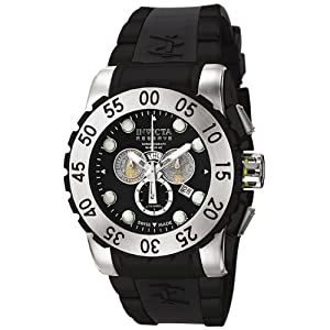 Invicta Men's 6660 Reserve Collection Leviathan Chronograph Black Polyurethane Watch