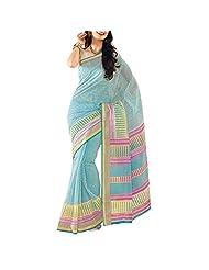 Saree dotcom Art Silk Saree (Light Blue) - B00M3T3K1M