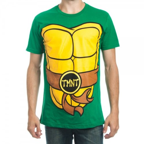 Teenage Mutant Ninja Turtles Men's Green Shell 'Suit Up' T-Shirt