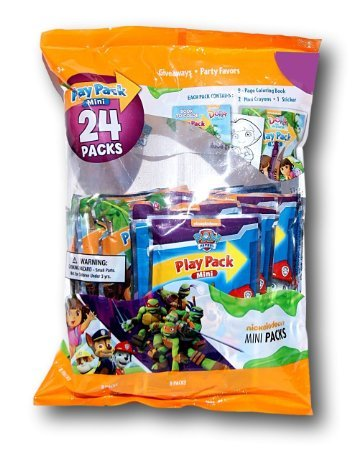 Party Favor Play Pack - Nickelodeon - 24 Mini Packs (Ninja Coloring Book Party Favors compare prices)