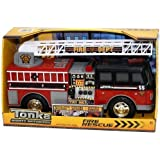Tonka Mighty Motorized Fire Rescue Truck - Red and Black