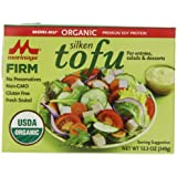 Morinu Organic Silken Tofu, Firm, 12.3 Ounce (Pack of 12)