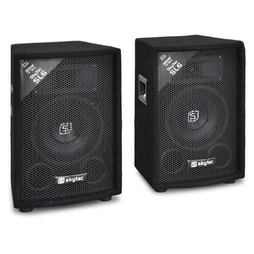 Pair of Skytec SL6 Passive PA DJ Speakers (6