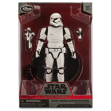 "Star Wars The Force Awakens Elite Series First Order Stormtrooper 6 1/2"" Diecast Figure"