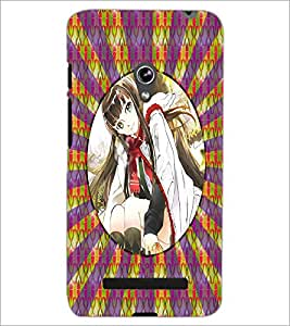 PrintDhaba Beautiful Girl D-3267 Back Case Cover for ASUS ZENFONE 5 A501CG (Multi-Coloured)