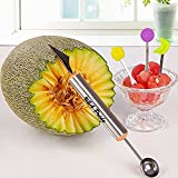 Melon Baller to make melon balls with Fruit Carving Knife Multifunction Kitchen Tool by USA PRIDE