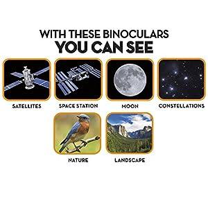 Space Navigator App-Enhanced Satellite Finding Binoculars - Powered by SkyView, Silver/Black