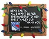 New York Rangers Official NHL 3 inch x 4 inch Chalkboard Sign Christmas Ornament