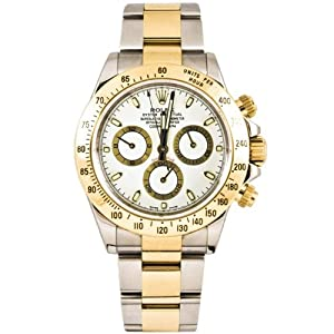 Rolex 40mm Stainless Steel & 18K Gold Daytona Model 116523 White Stick Dial Inner Bezel Engraving Model