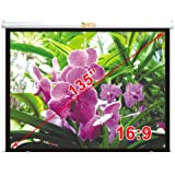 "Antra Electric Motorized 135"" 16:9 Projector Projection Screen Matte White Low Noise Tubular Motor"
