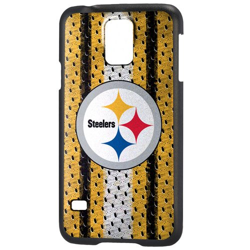 Team Pro Mark Licensed NFL Pittsburgh Steelers Slim Series Protector Case for Samsung Galaxy S5 - Retail Packaging - Yellow/Black from Team Pro Mark