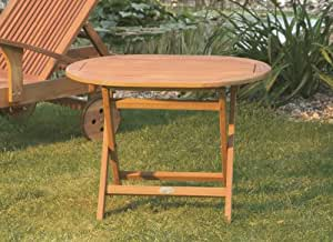 Garden Hardwood Occasional Oval Side Table