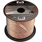 16AWG 2-Conductor Speaker Wire (50 Feet, Clear) by Mediabridge - Spooled Design with Sequential Foot Markings (Part# SW-16X2-50-CL )