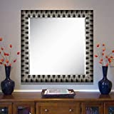 Elegant Arts & Frames Black And Silver Wall Decorative Wood Mirror 30 Inch X 30 Inch