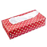 Ecoleatherette Handcrafted Eco-Friendly Napkin Box Paper Tissue Holder Box (Polka Design)