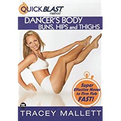 Tracey Mallett Quick Blast Method Dancer's Body Buns, Hips and Thighs DVD - Region 0 Worldwide