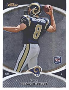 2010 Topps Finest Sam Bradford Rookie Football Card #125 St. Louis Rams