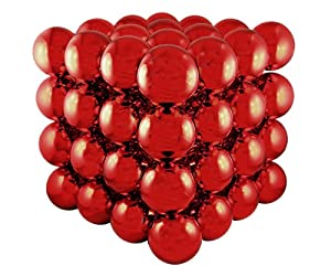 "5"" Shiny Red Shatterproof Christmas Ball Ornament Cube Decoration"