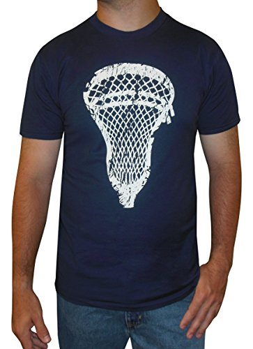Zone Apparel Lacrosse Men's T-shirt - Lacrosse Head Medium Navy