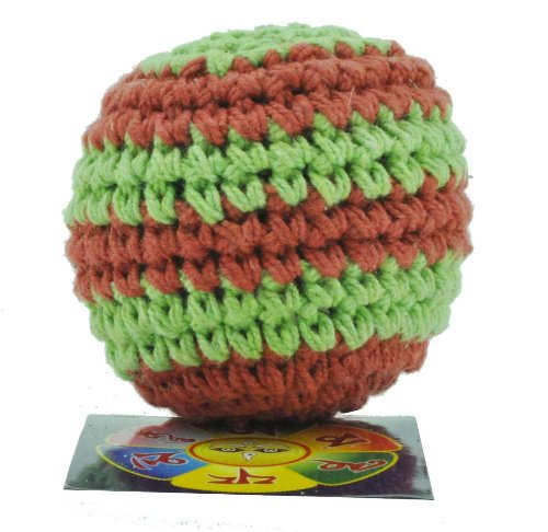 Premium Quality Hemp Handmade Hacky Sack Footbag, Free Copyrighted Buddha Eye Mantra Fridge Magnet - 1
