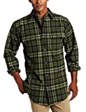 Carhartt Mens Hubbard Plaid Shirt, Forest Green, Large/Regular