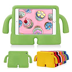 Lioeo iPad Mini Case for Kids Freestanding with Handle Lightweight EVA Foam Case for Apple iPad Mini 4 3 2 1 7.9 inch (Green)