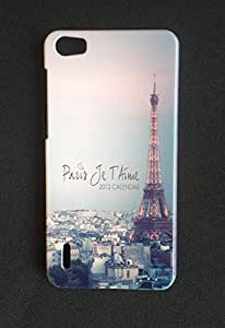 Newtronics Fashion Designer Vintage Love In Paris Calender Eiffel Tower Hard Back Cover Case for Huawei Honor 6