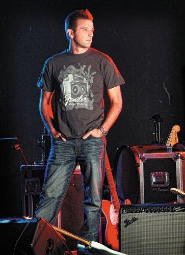 Fender® Instruments T-Shirt, Charcoal, L