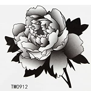 Amazon.com : GGSELL King Horse Temporary tattoo sticker black peony
