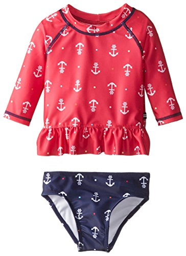 Nautica baby girls 39 anchor rash guard swim set eko for Baby rash guard shirt