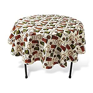 Coffee nouveau vinyl tablecloth 52 x 70 oblong for Table linens 52 x 70