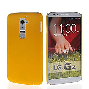 Wow Matte Rubberized Finish Hard Case For Lg G2 -yellow