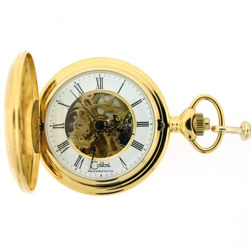 pocket watches colibri mechanical pocket skeleton