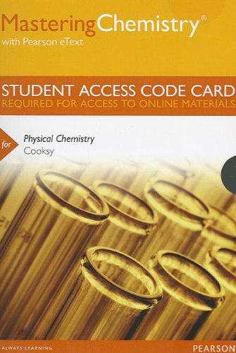 MasteringChemistry with Pearson eText -- Standalone Access Card -- for Physical Chemistry (MasteringChemistry (Access Co